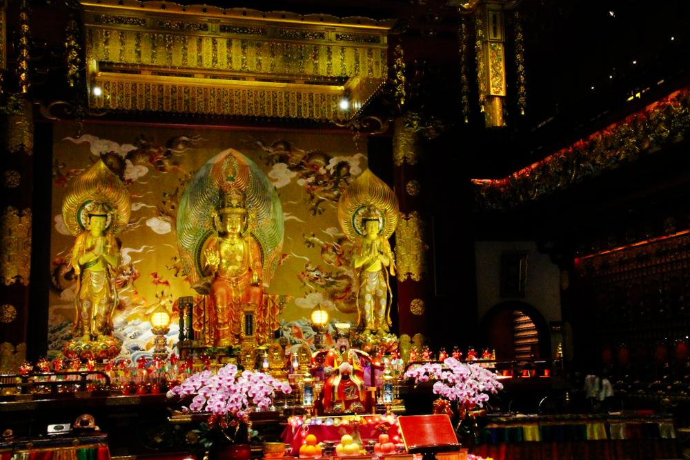 Buddha Tooth Relic Temple Prayer Hall