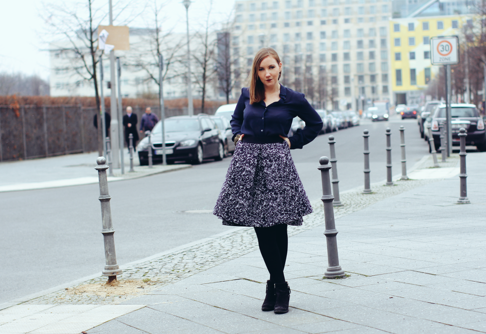Cos Skirt Vintage Blouse Fashion Week Berlin Outfit