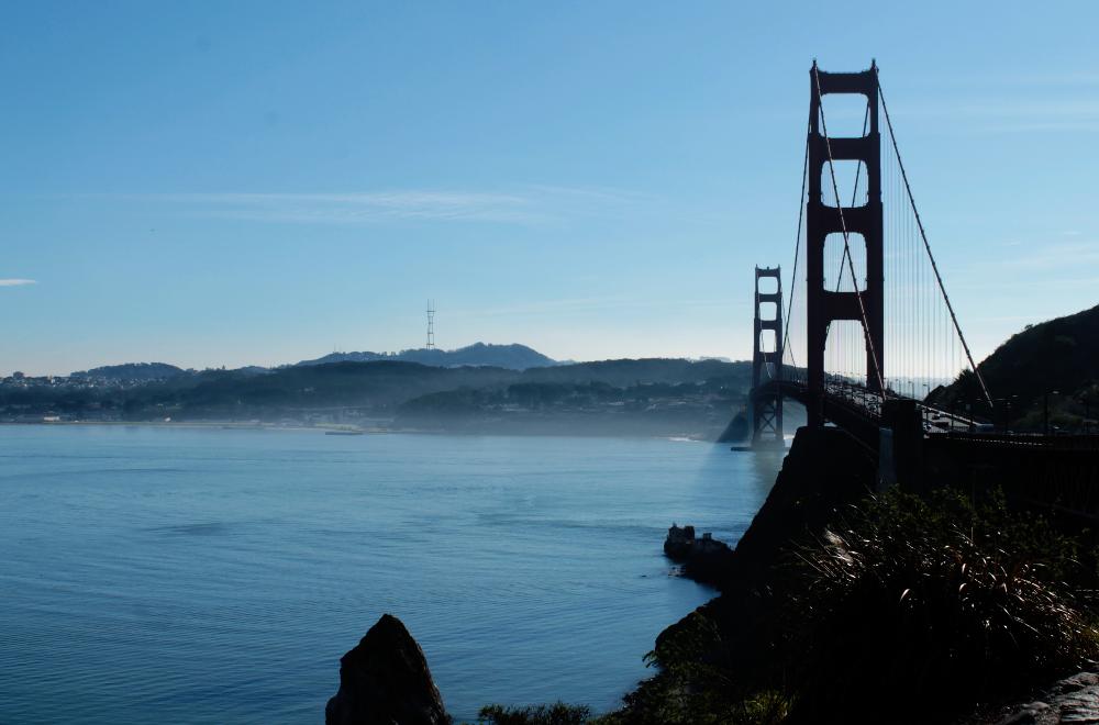 Golden Gate Bridge Gegenlicht