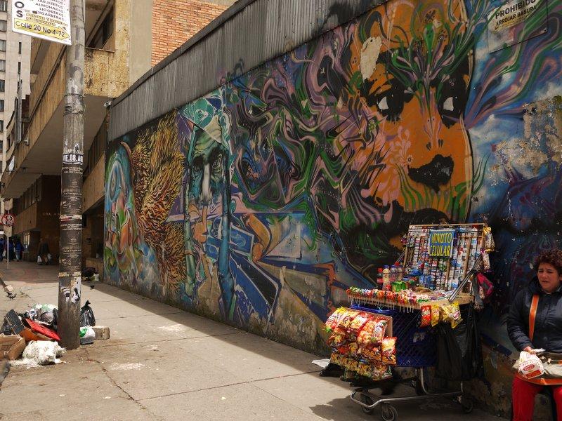 In the street Bogota