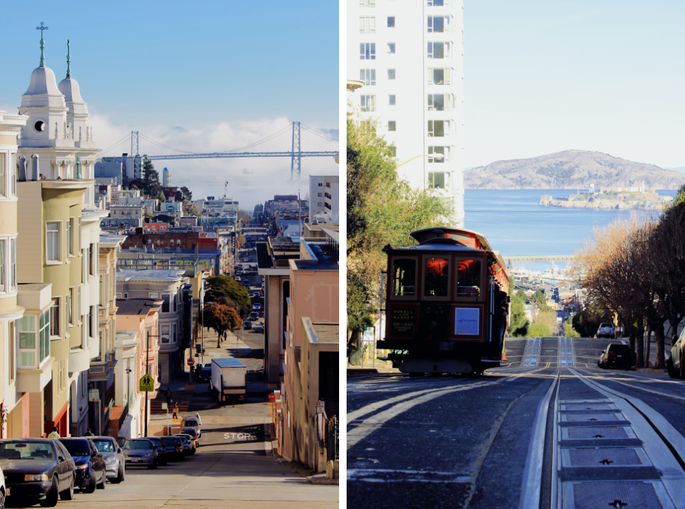 San Francisco Tourist Moments Lombard Street Cable Car