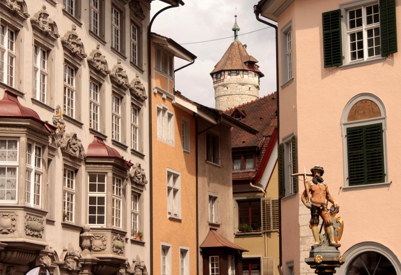 Wilhelm Tell Brunnen Schaffhausen